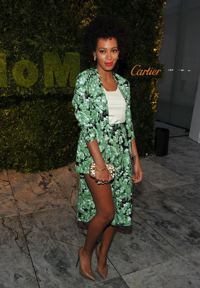 NEW YORK, NY - MAY 22:  Solange Knowles attends the 2012 Party in the Garden benefit at the Museum of Modern Art on May 22, 2