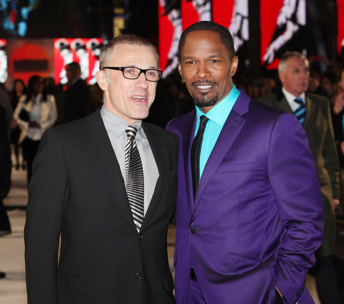 Christoph Waltz and Jamie Foxx seen at the UK premiere of Django Unchained at the Empire Leicester Square on Thursday, Jan. 1