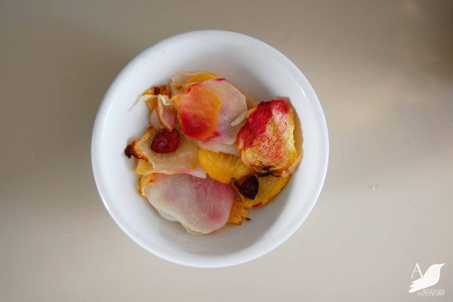 "<strong>Get the <a href=""http://www.anestforallseasons.com/2011/02/turnip-chips.html"">Turnip Chips recipe from A Nest For All"