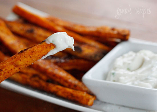 """<strong>Get the <a href=""""http://www.skinnytaste.com/2010/11/baked-chipotle-sweet-potato-fries.html"""">Baked Chipotle Sweet Pota"""