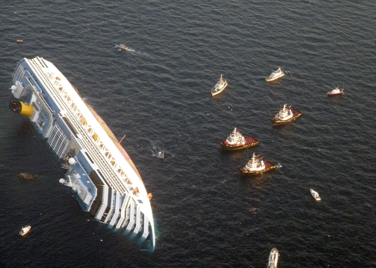 FILE - In this Saturday, Jan. 14, 2012 file photo released by the Guardia di Finanza (border Police), the luxury cruise ship
