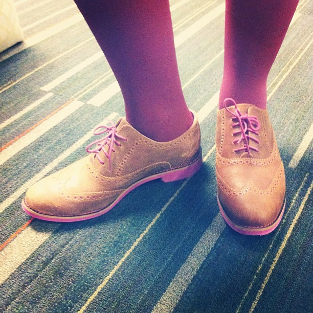 How cute are these Cole Haan brogues?