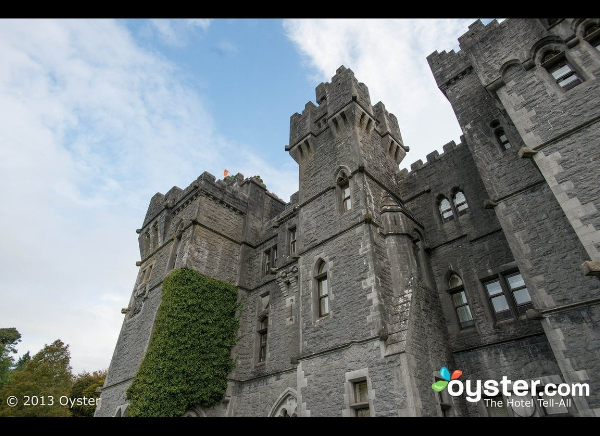 First up, Ashford Castle. Ashford Castle embodies the fantasy of the Irish castle hotel, featuring a massive historic stone f