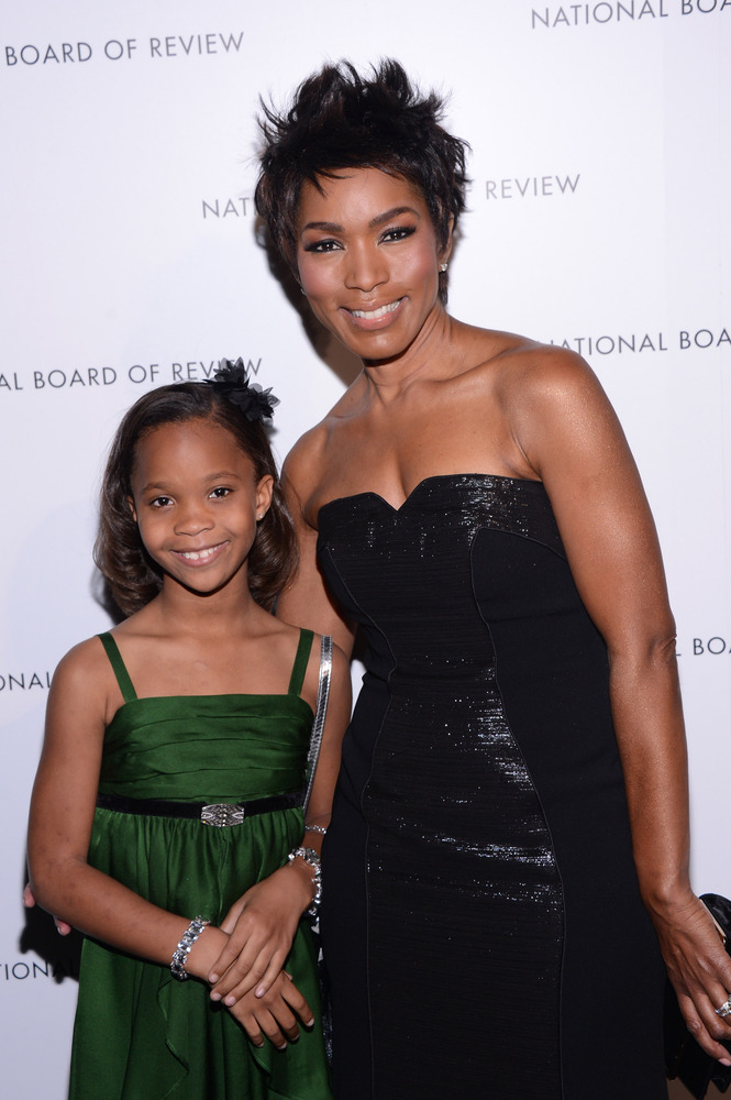 NEW YORK, NY - JANUARY 08: Actors Quvenzhane Wallis and Angela Bassett attend the 2013 National Board Of Review Awards at Cip