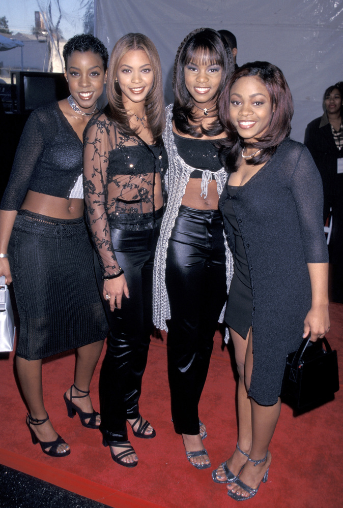 Destiny's Child Kelly Rowland, Beyonce Knowles, LeToya Luckett, and LaTavia Robertson at the Shrine Auditorium in Los Angeles
