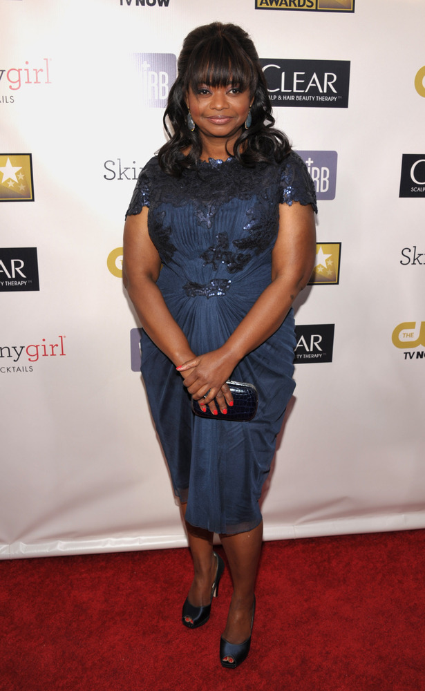Octavia Spencer arrives at the 18th Annual Critics' Choice Movie Awards at the Barker Hangar on Thursday, Jan. 10, 2013, in S