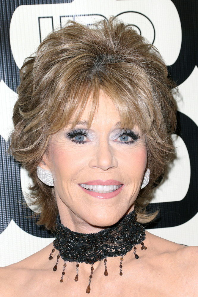 BEVERLY HILLS, CA - JANUARY 13:  Actress Jane Fonda attends HBO's Post 2013 Golden Globe Awards Party held at Circa 55 Restau