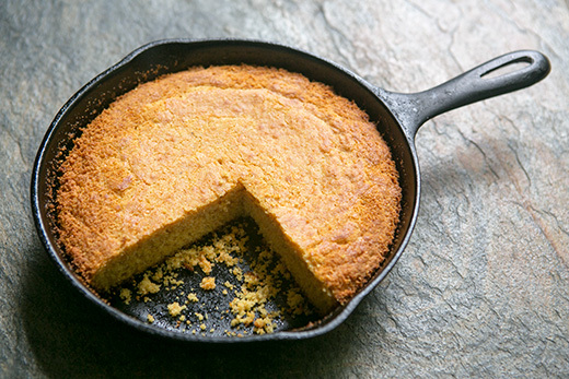 """<strong>Get the <a href=""""http://www.simplyrecipes.com/recipes/southern_cornbread/"""">Southern Cornbread recipe</a> by Simply Re"""