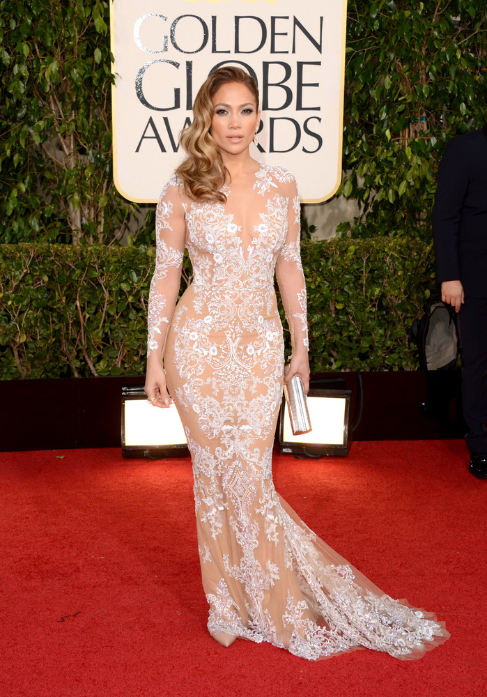 BEVERLY HILLS, CA - JANUARY 13:  Actress Jennifer Lopez arrives at the 70th Annual Golden Globe Awards held at The Beverly Hi