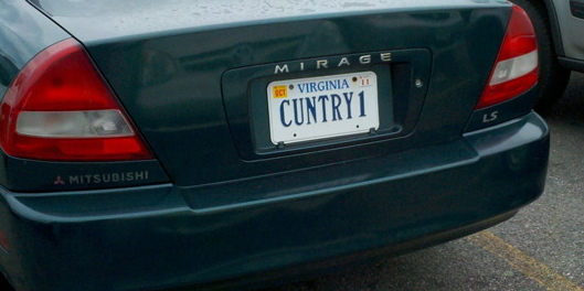 """The """"Country1"""" vanity plate may have been taken, but Joe refused to give up on his dream."""