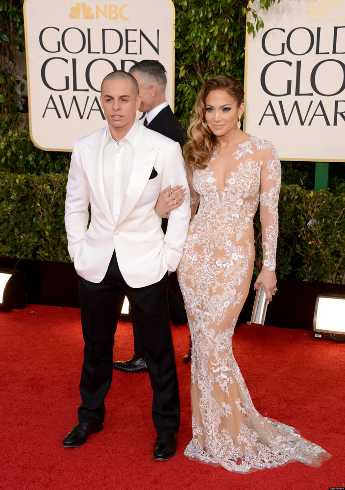 "Golden Globe presenter Jennifer Lopez, whose ex Marc Anthony <a href=""http://www.huffingtonpost.com/2012/04/11/jennifer-lopez"