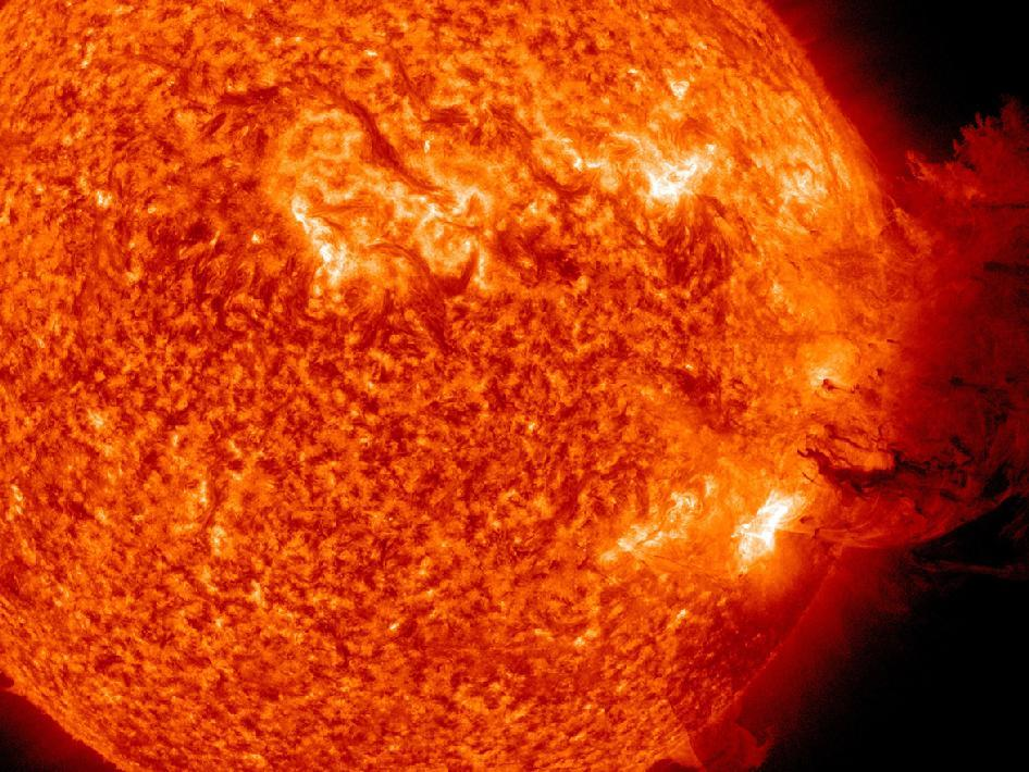 REALITY: Solar flares can release electromagnetic radiation that's strong enough to disrupt electric power grids, satellites,