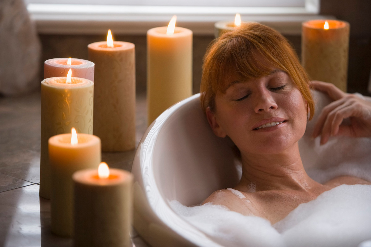 "Ahhh. Why does taking a warm bath instantly destress us? ""[It] calms our physiology [and] relaxes the vessels,"" explains Dr."