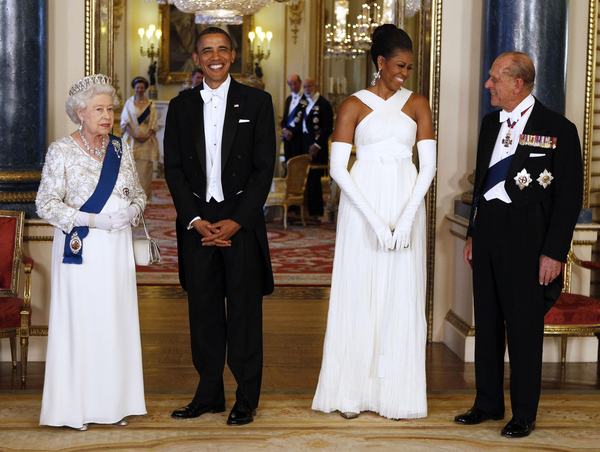 "Throughout her reign, Queen Elizabeth has exchanged pleasantries with <a href=""http://abcnews.go.com/Politics/OTUS/slideshow/"