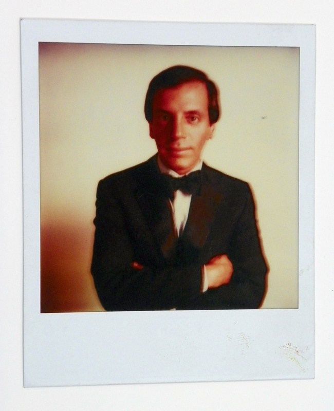 Andy Warhol polaroid of Steve Rubell for the cover of Interview Magazine. Provenance: Estate of Steve Rubell