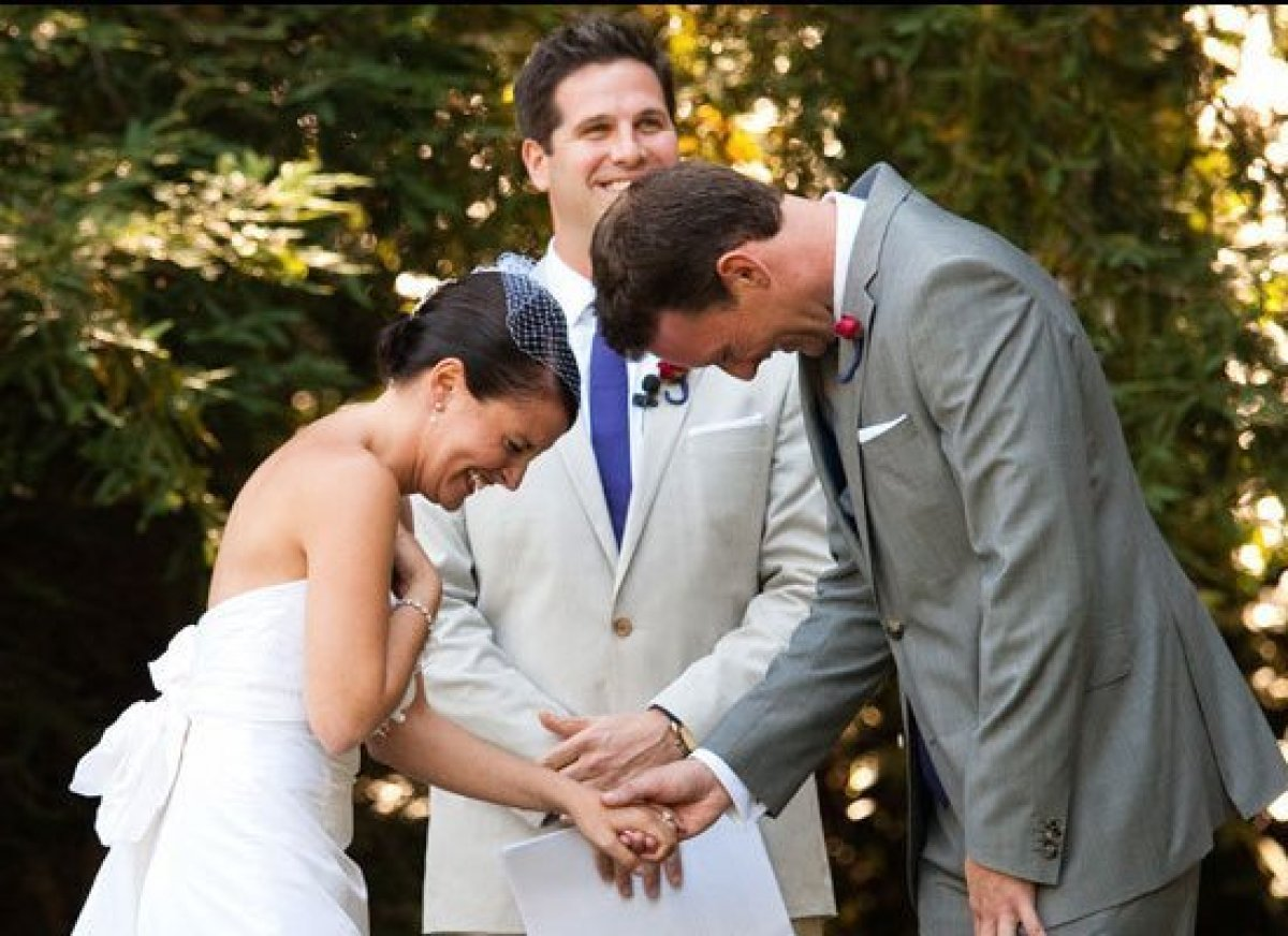 """During our ceremony, Tom and I started teasing each other for crying. We had to ask the officiant to pause for a momen"