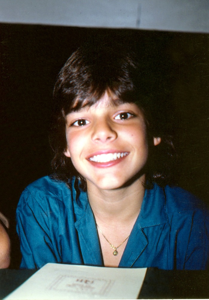 Ricky at 13 when in 1984 he joined Menudo for five years.