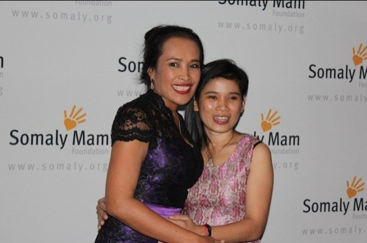 Somaly Mam and her assistant Lin Sylor