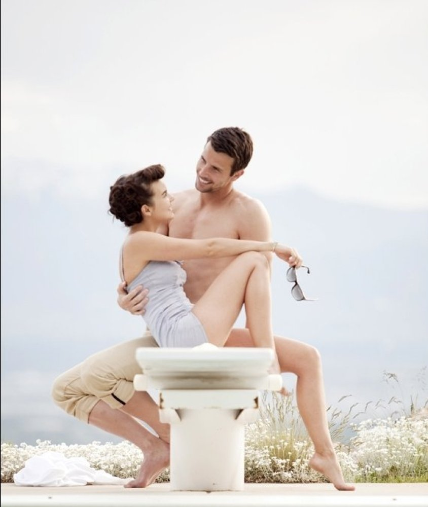 "A vintage bathing suit and pretty color palette make this shoot memorable.<br><a href=""http://lover.ly/search?q=vintage+beach"