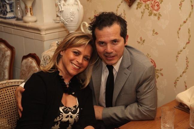 Justine Maurer and John Leguizamo
