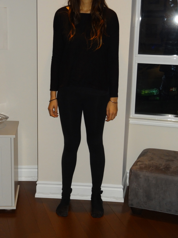 Find a plain sweater. Pullovers work better than cardigans as there is more surface area to embellish.   H&M sweater (<a href