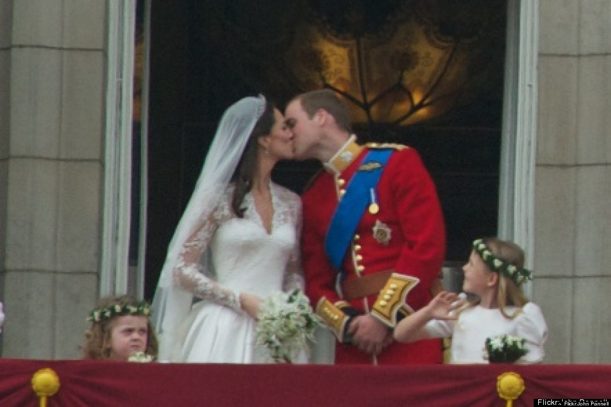 Prince William and Catherine Middleton sealed their nuptials with not one, but two smooches on the Buckingham Palace balcony