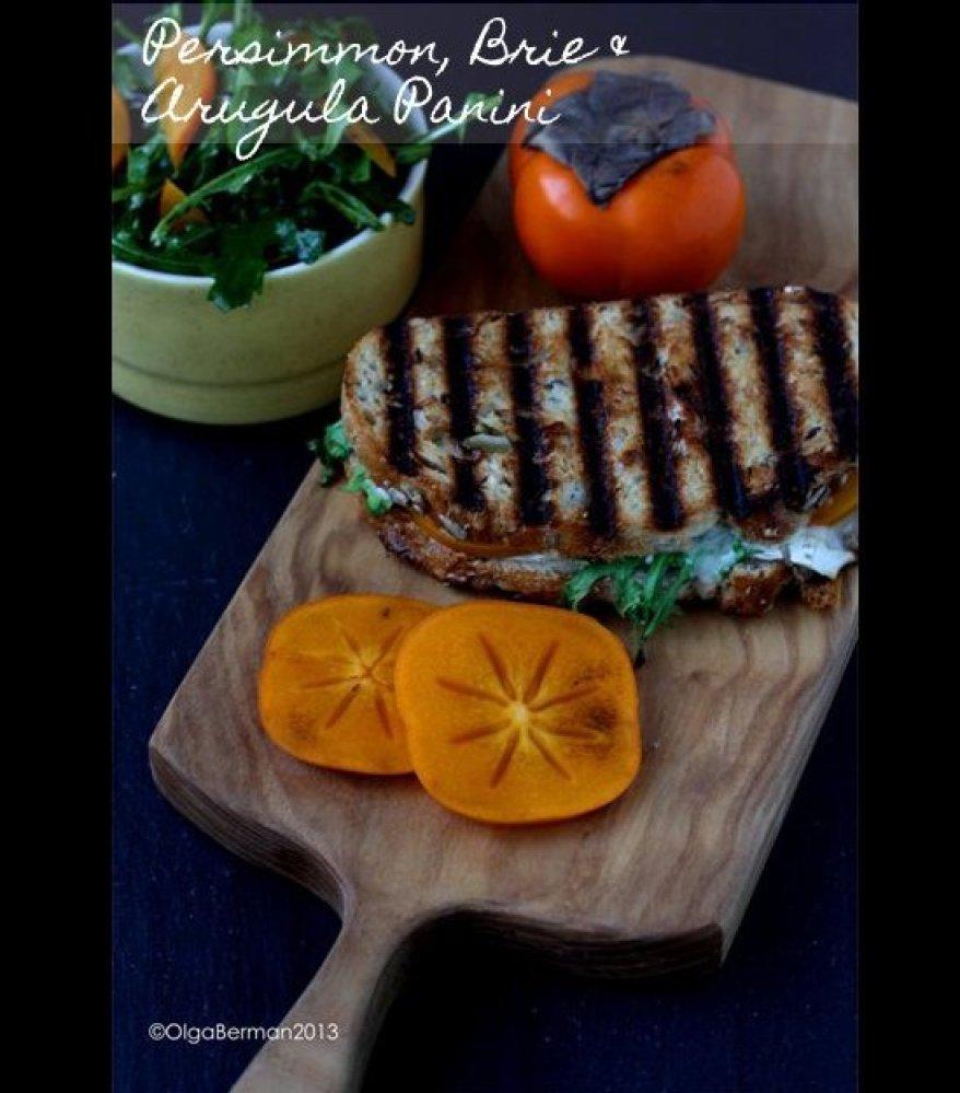 "This <a href=""http://www.mangotomato.com/2013/01/persimmon-brie-arugula-panini-persimmon.html"" target=""_hplink"">Persimmon, Br"