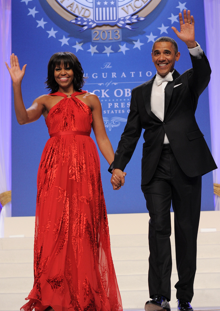 US President Barack Obama and First Lady Michelle Obama attend the Inaugural Ball at the Walter E. Washington Convention Cent