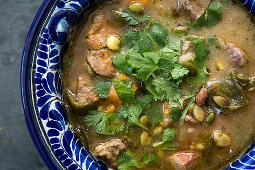 """<strong>Get the <a href=""""http://www.simplyrecipes.com/recipes/pork_and_poblano_stew/"""">Pork and Poblano Stew recipe from Simpl"""