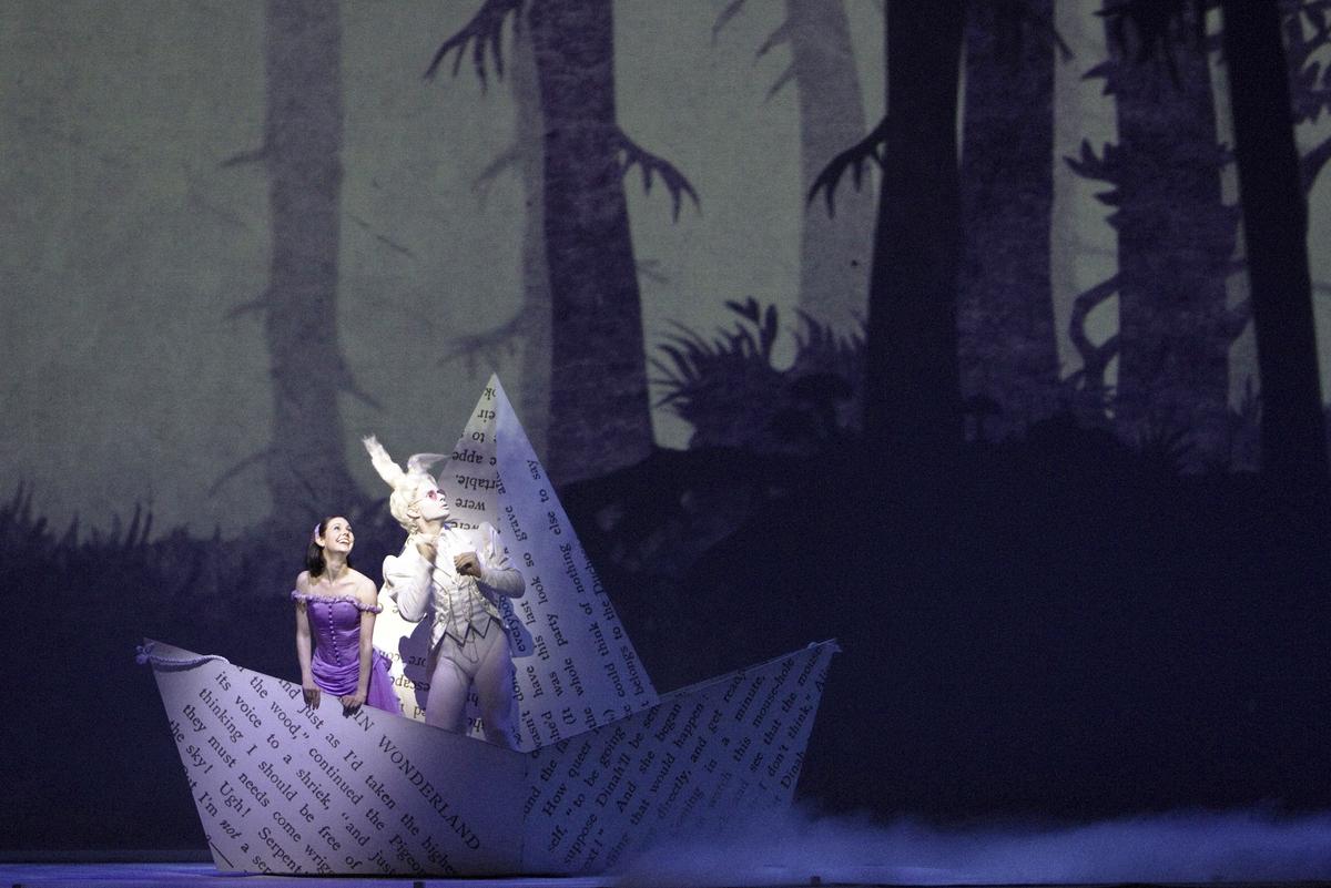 "Jillian Vanstone and Aleksandar Antonijevic in ""Alice's Adventures in Wonderland"""