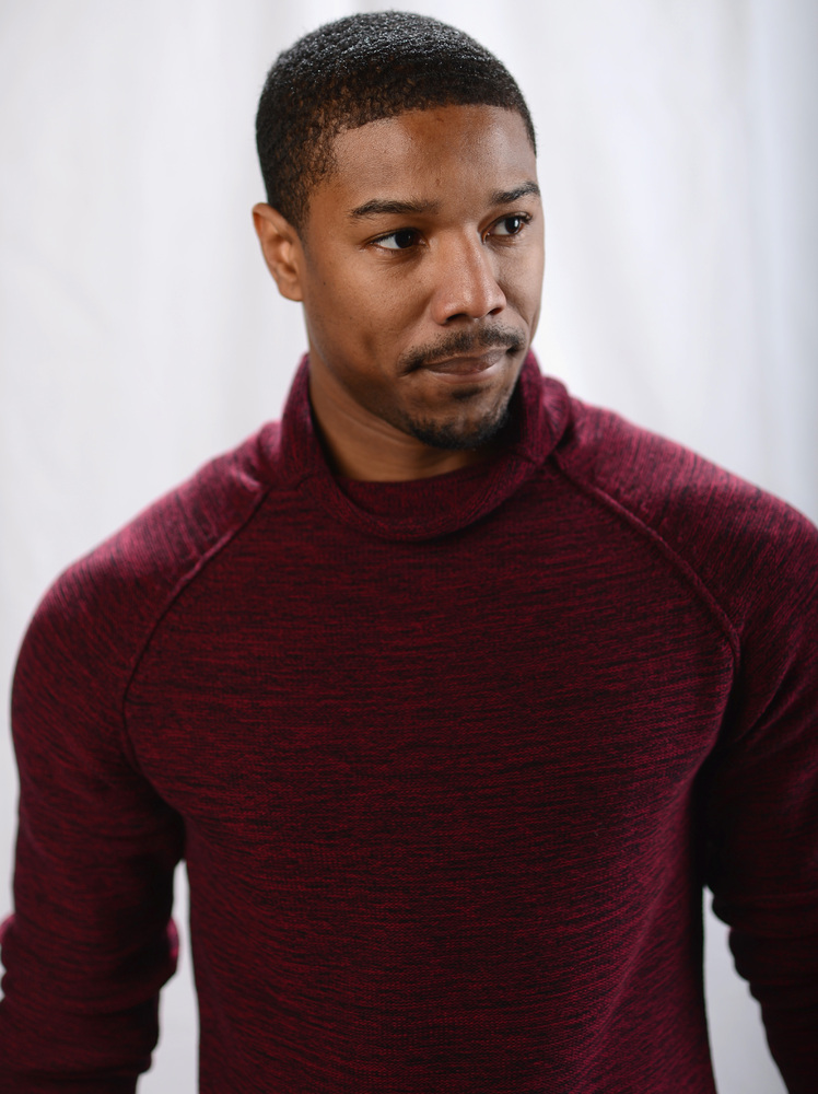 Actor Michael B. Jordan poses for a portrait at the photo booth for MSN Wonderwall at ChefDance on January 20, 2013 in Park C