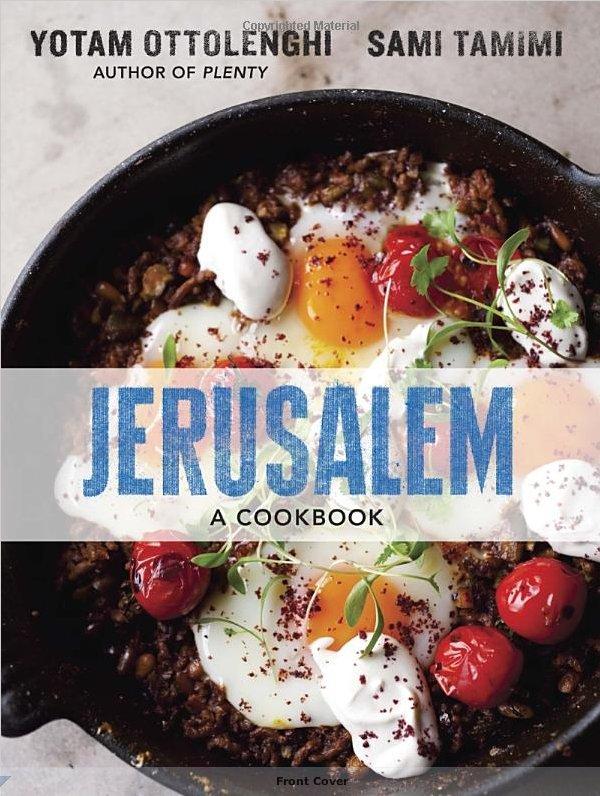 """<strong><a href=""""http://www.amazon.com/Jerusalem-A-Cookbook-Yotam-Ottolenghi/dp/1607743949/ref=sr_1_1?ie=UTF8&qid=1358959009&"""