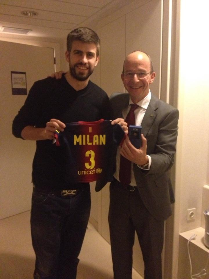 Milan Mebarak Piqué was born on January 22 in Barcelona, the famous son of Barcelona soccer player Gerard Piqué and Colombian