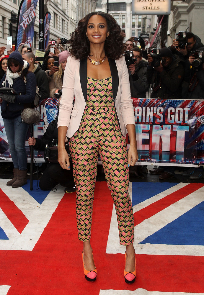 LONDON, ENGLAND - JANUARY 22:  Alesha Dixon arrives for auditions for Britain's Got Talent at London Palladium on January 22,
