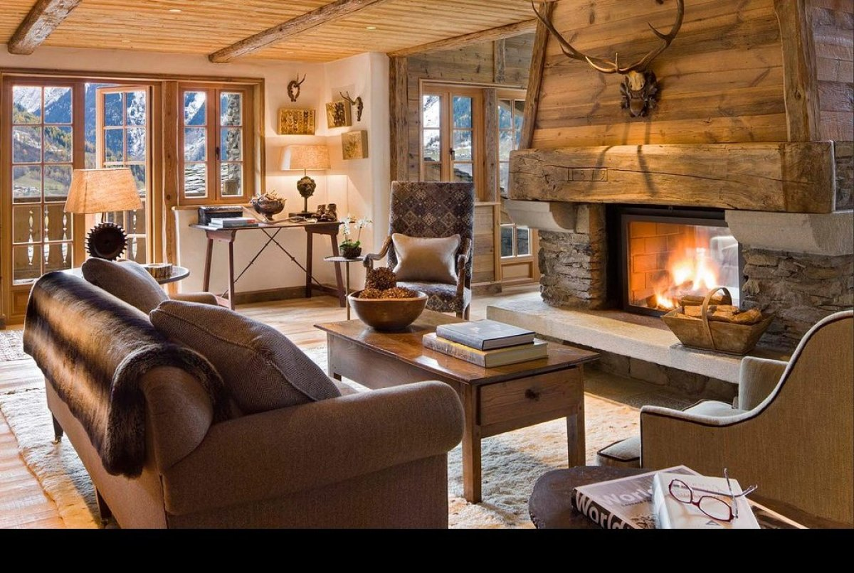Opening just in time for Valentine's Day, this five-bedroom house in the Swiss Alps boasts a media room, indoor salt-water po