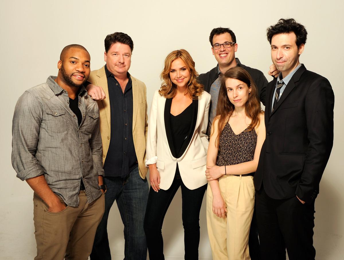 NEW YORK, NY - APRIL 23:  (L-R) Actors Tarik Lowe, Mike Landry, Arielle Kebbel, writer/director Daniel Schechter, Sophia Taka