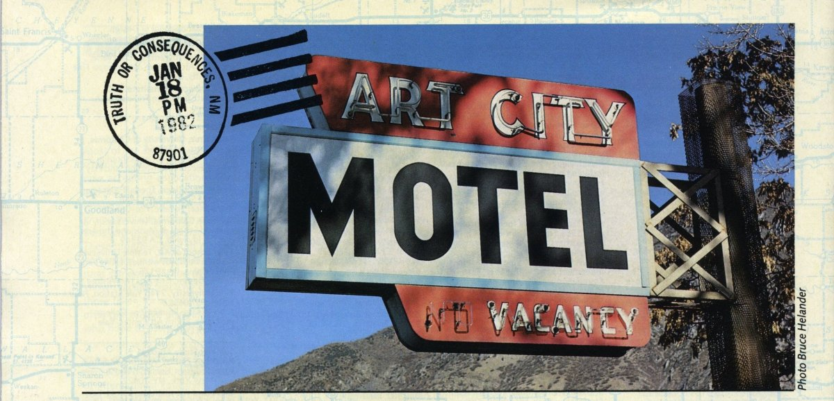 Art City, UT – Bruce Helander's favorite sign discovery, taken in Art City, Utah. (Photograph by Bruce Helander)