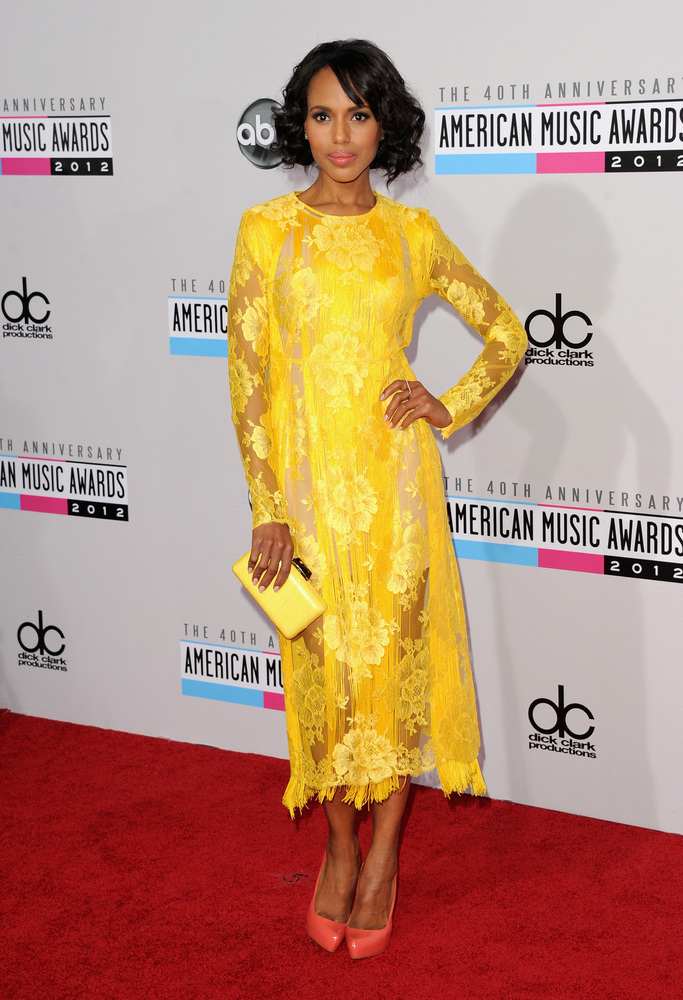 LOS ANGELES, CA - NOVEMBER 18:  Actress Kerry Washington attends the 40th American Music Awards held at Nokia Theatre L.A. Li