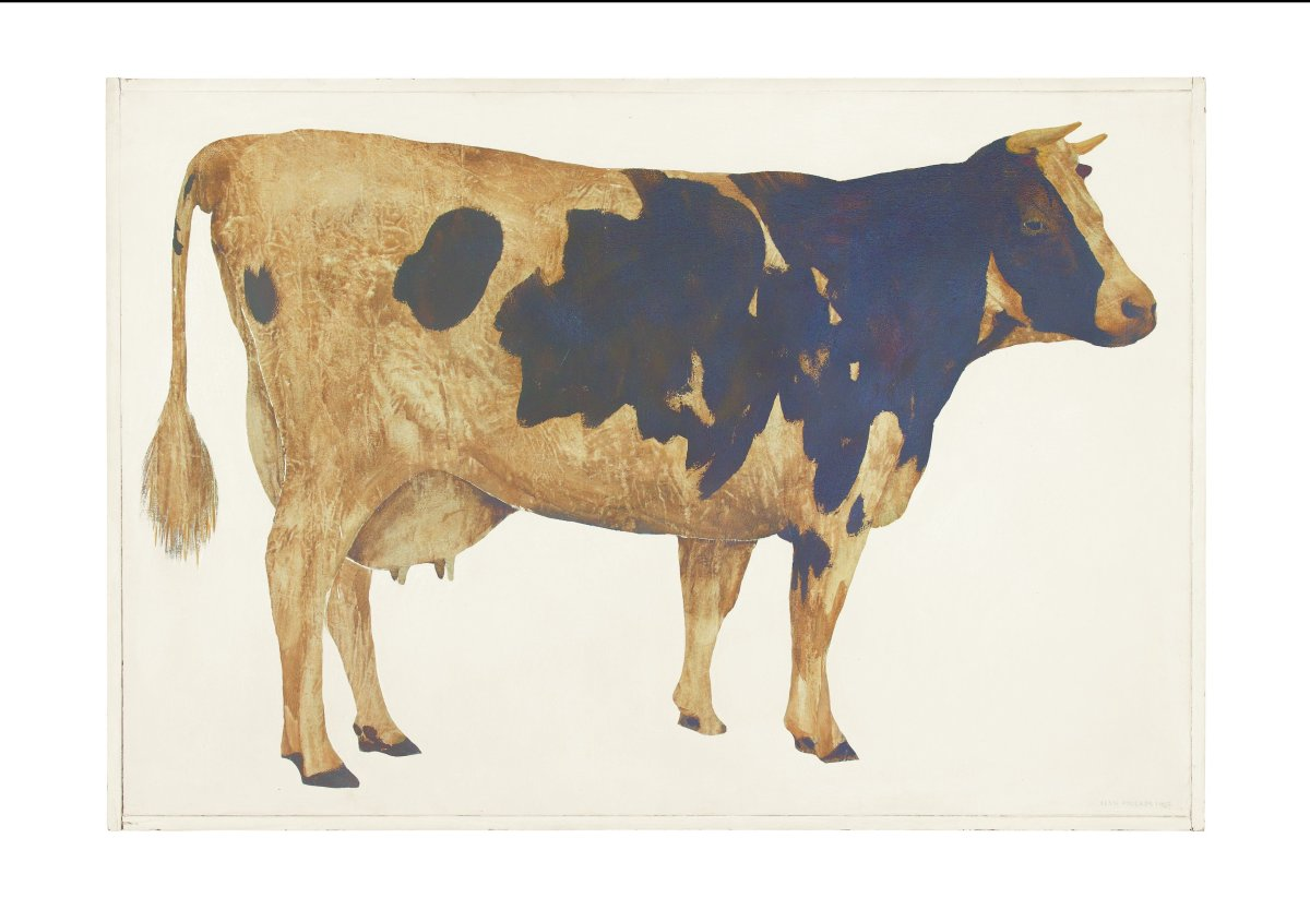 Llyn Foulkes. Cow, 1963. Oil on canvas. 43 x 62 in. (109.2 x 157.5 cm). Private collection. Photo by Jason Dewey.