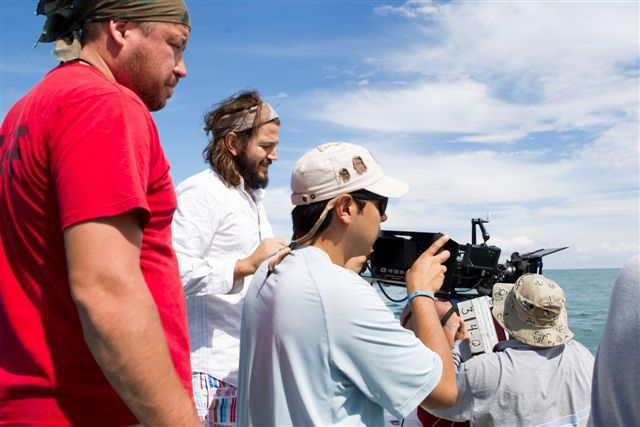 Mexican actor Diego Luna behind the camera directing 'Drifting', a short film inspired and created by friends.