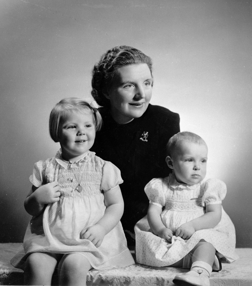 In this Dec. 6, 1940 file photo, Crown Princess Juliana of the Netherlands is seen with her two daughters, Princess Beatrix,