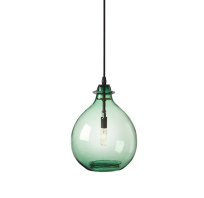 "$425 from<a href=""http://www.ciscohome.net/lighting/jug-lamp-emerald""> Cisco Home </a>"