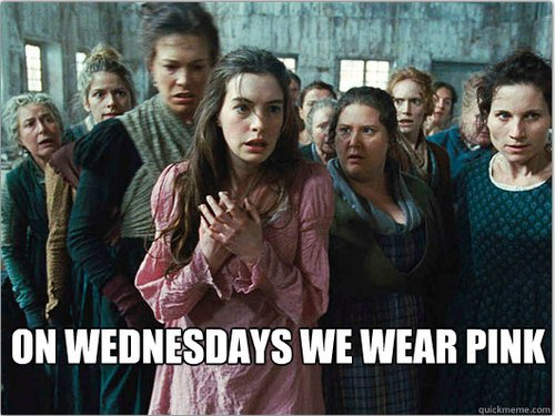 "What do you get when you combine <a href=""http://lesmeangirls.tumblr.com/""><em>Les Miserables</em> with <em>Mean Girls</em>?<"