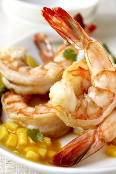 "We have to wonder what ""Colossal Mango Shrimp"" is doing on Benihana's menu. The chain's website describes it as ""Colossal shr"