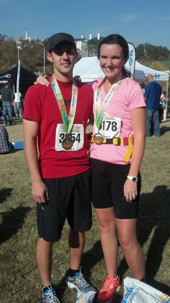 """My fiance and I just ran our first marathon together, stride for stride.""  --Meaghan Calnan"