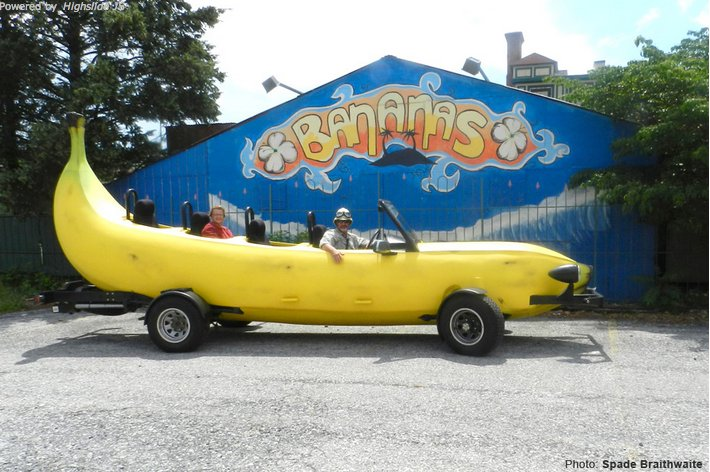 The Big Banana Car is 23-1/2 feet long.