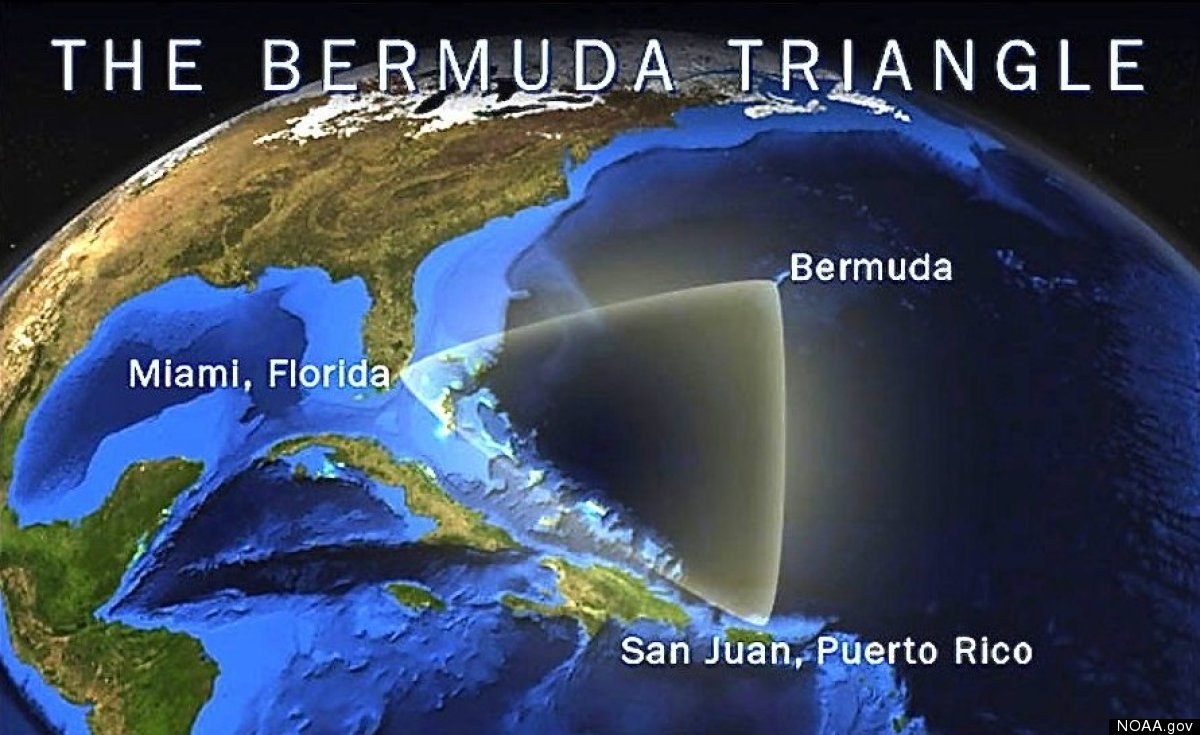 This illustration shows the general location of the infamous Bermuda Triangle.