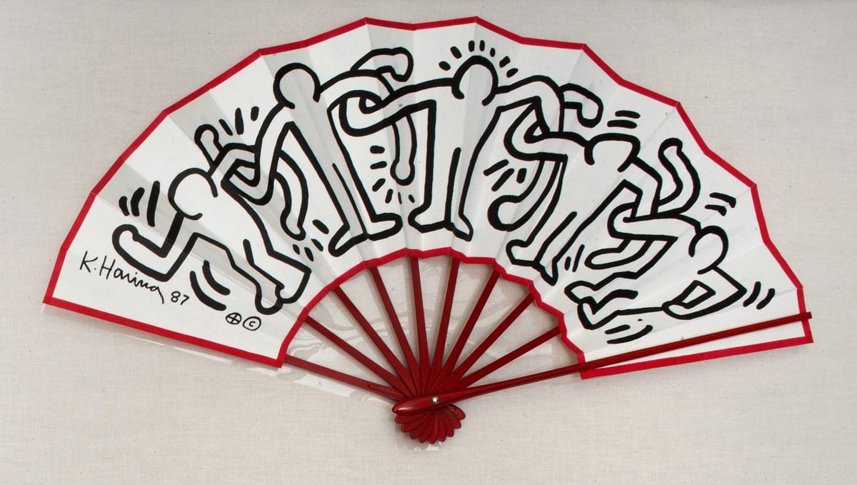 Keith Haring, Fan, 1987 Keith Haring artwork © Keith Haring Foundation