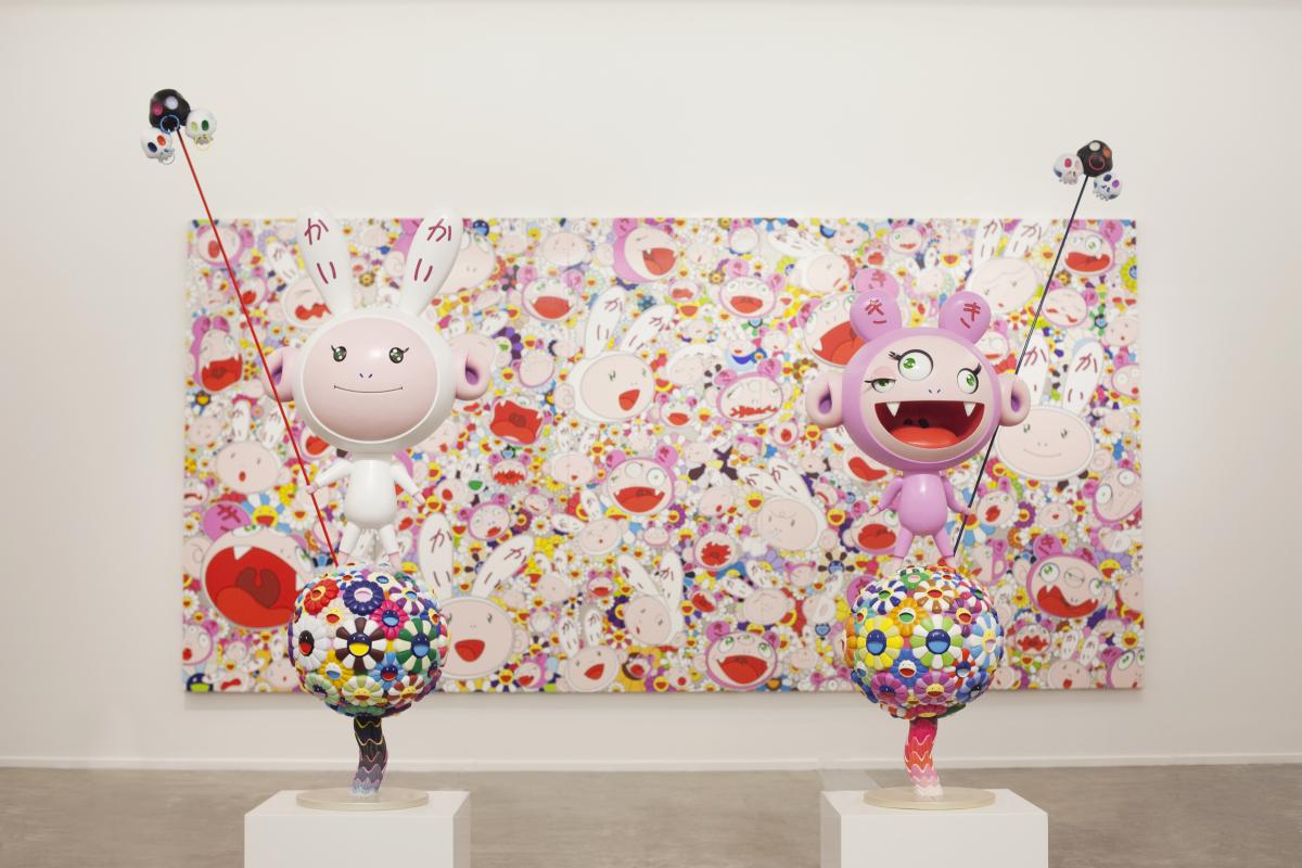 "Installation View of Murakami Ego Photo by Chika Okazumi  Takashi Murakami's ""Ego"" Exhibition At Al Riwaq Exhibition Hall In"