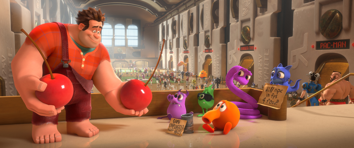 "FILE - This film image released by Disney shows Ralph, left, voiced by John C. Reilly in a scene from ""Wreck-It Ralph."" The f"